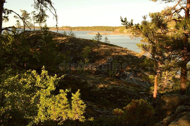 Het nationale Park van Ladoga skerries in Karelië stock fotografie