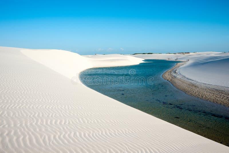 Het Nationale Park van Lencoismaranhenses, Brazilië royalty-vrije stock foto's
