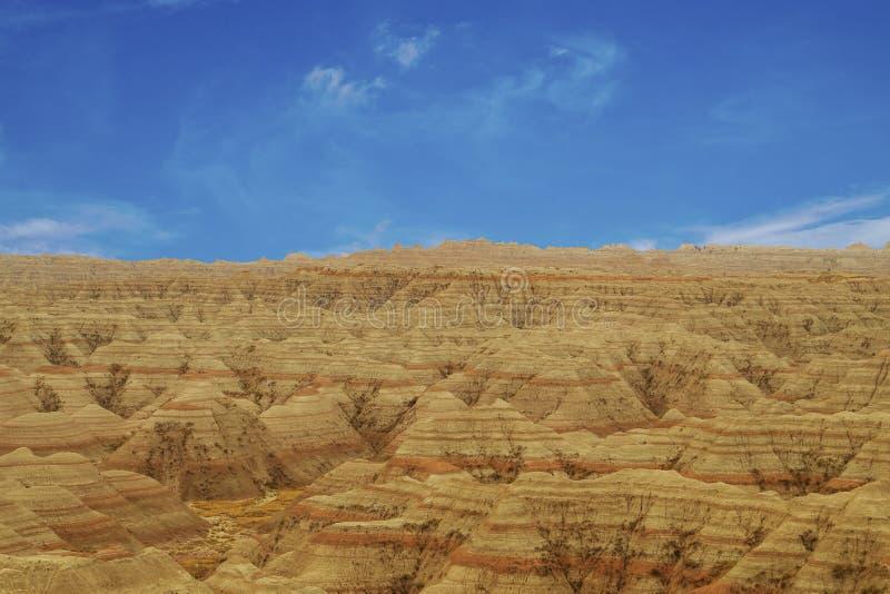 Het Nationale Park van panoramabadlands, Zuid-Dakota, de V.S. stock foto