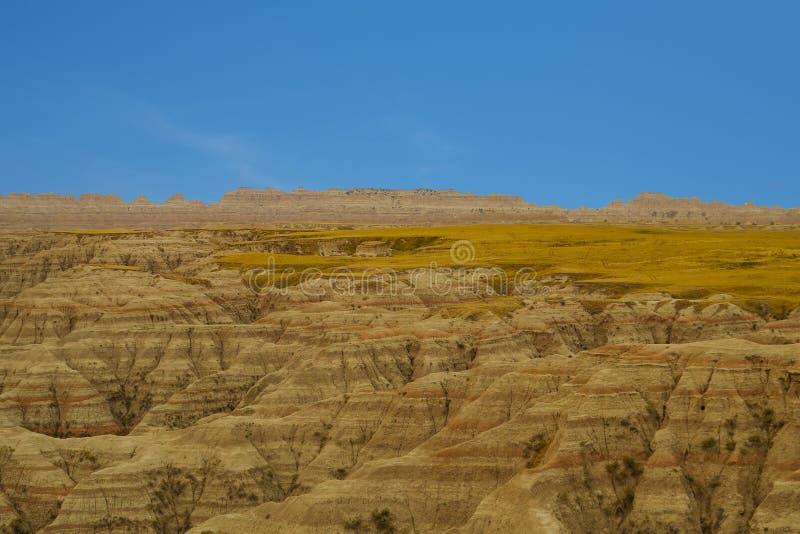 Het Nationale Park van panoramabadlands, Zuid-Dakota, de V.S. stock afbeelding