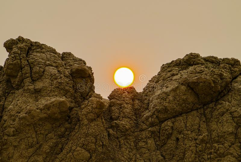 Het Nationale Park van panoramabadlands, Zuid-Dakota, de V.S. royalty-vrije stock foto's