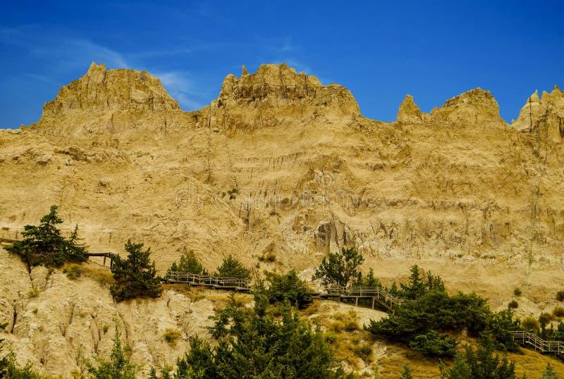Het Nationale Park van panoramabadlands, Zuid-Dakota, de V.S. royalty-vrije stock foto
