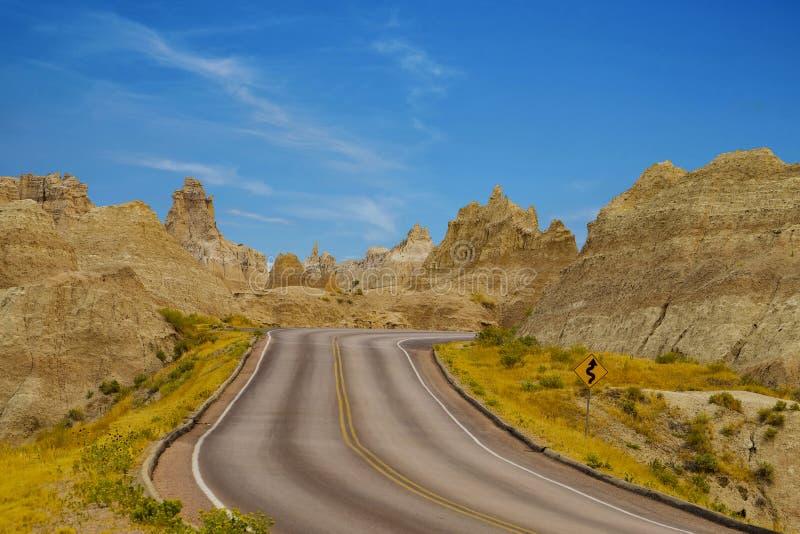 Het Nationale Park van panoramabadlands, Zuid-Dakota, de V.S. royalty-vrije stock afbeelding