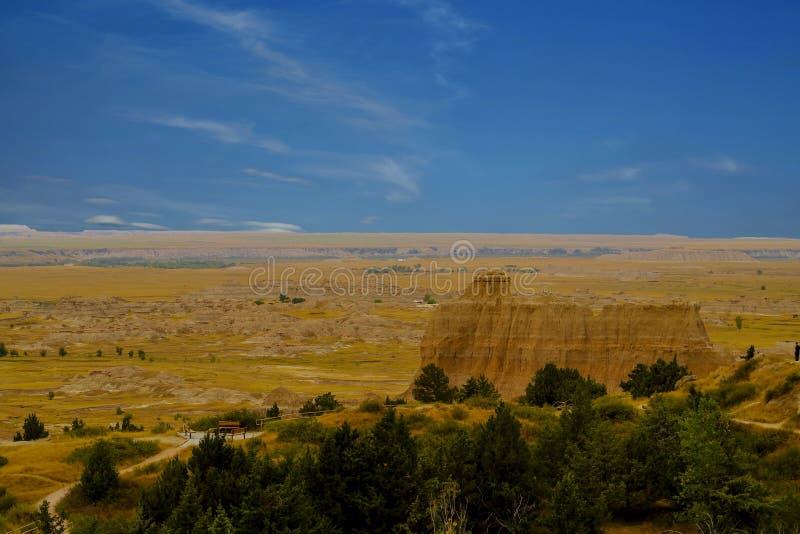 Het Nationale Park van panoramabadlands, Zuid-Dakota, de V.S. stock afbeeldingen