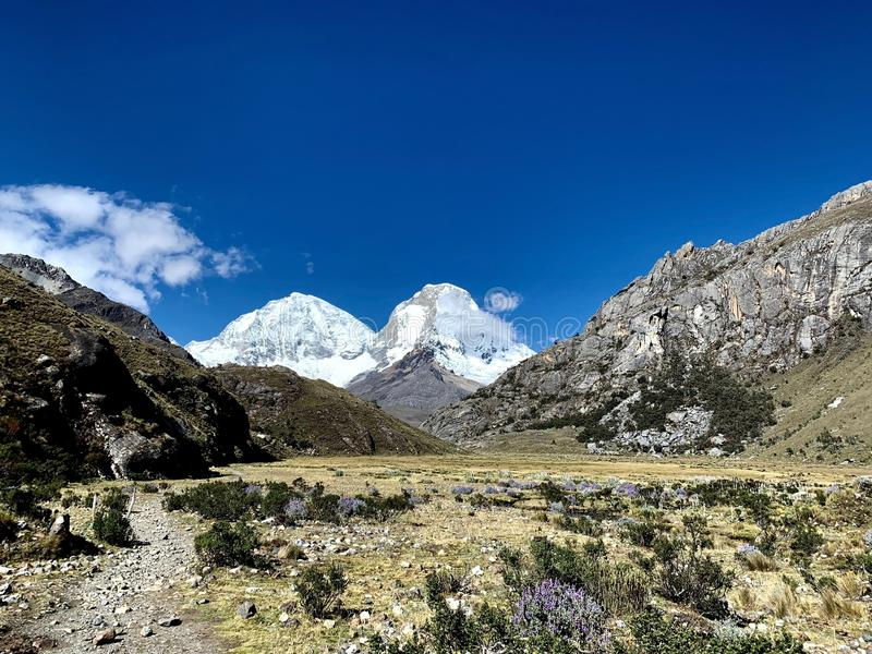 Het Nationale Park van Peru Ancash Region - van Huascarà ¡ n stock afbeelding
