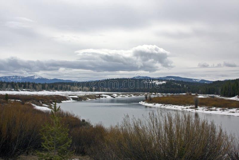 Het Nationale Park van Teton stock foto