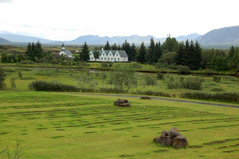 Het Nationale Park van Thingvellir, IJsland stock foto's