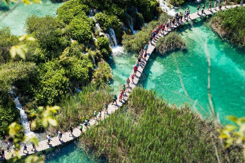 Het Nationale Park van Unesco in Kroatië stock afbeelding