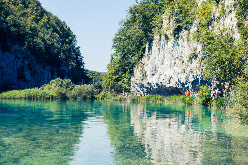 Het Nationale Park van Unesco in Kroatië royalty-vrije stock afbeelding