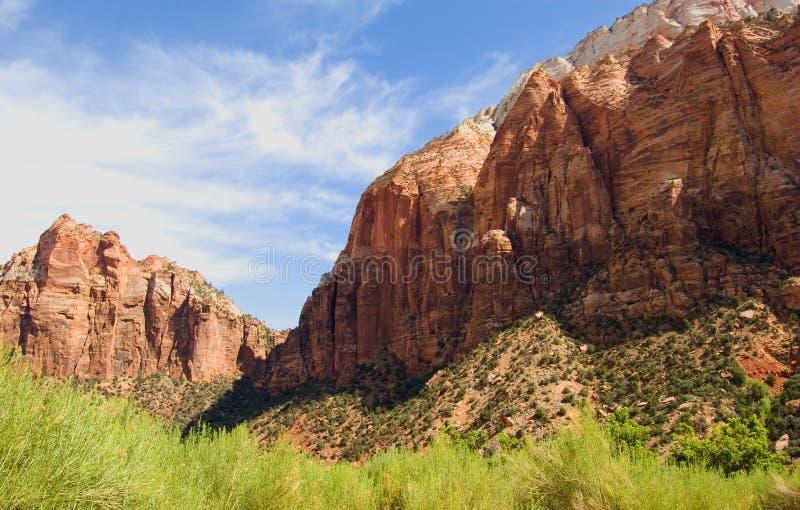 Het nationale park van Zion, de V.S. royalty-vrije stock foto