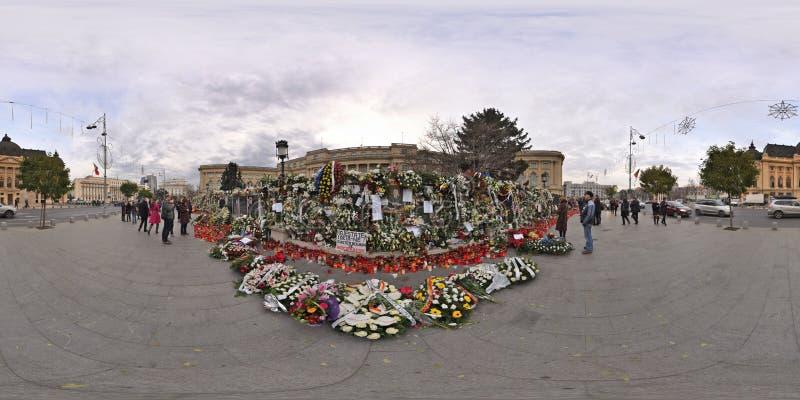 Het nationale Rouwen na het overlijden van Michael I in Royal Palace in Boekarest, Roemenië stock foto