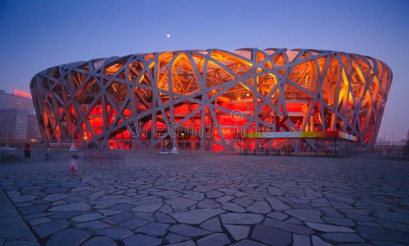 Het Nationale Stadion van Peking stock foto's