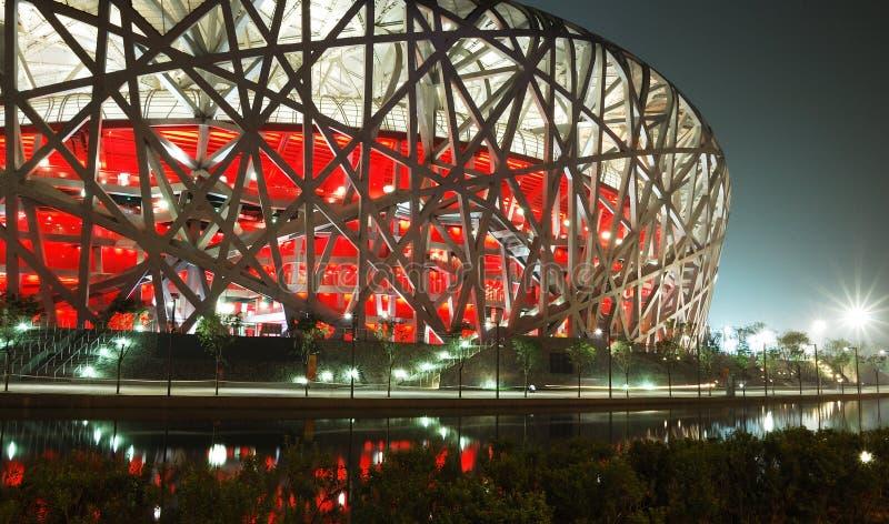 Het nationale Stadion van Peking stock fotografie