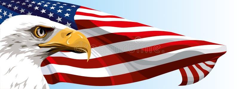 Het nationale symbool van de V.S. stock illustratie