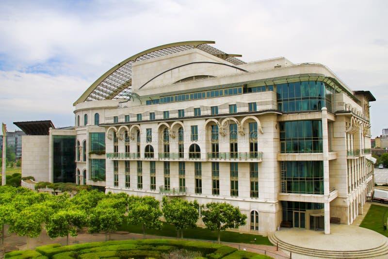 Het Nationale theater in Boedapest royalty-vrije stock afbeeldingen