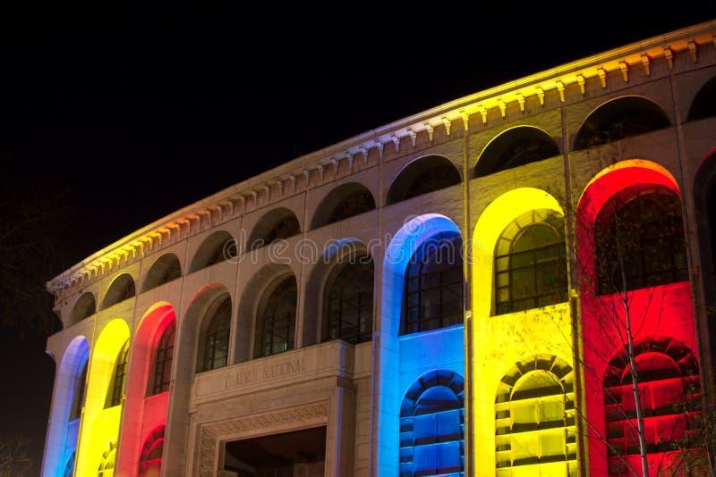 Het Nationale Theater van Boekarest stock foto's