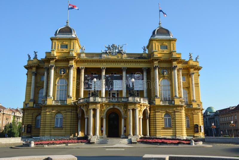 het nationale theater Zagreb van Kroatië stock afbeelding