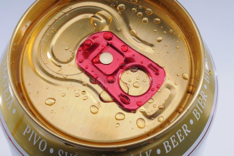 Het natte Bier kan royalty-vrije stock foto's