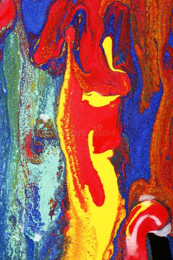 Het natte Canvas van Verven stock foto