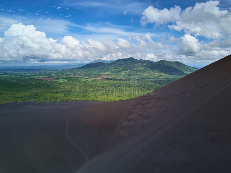 Het natuurlijke landschap van Nicaragua stock afbeeldingen