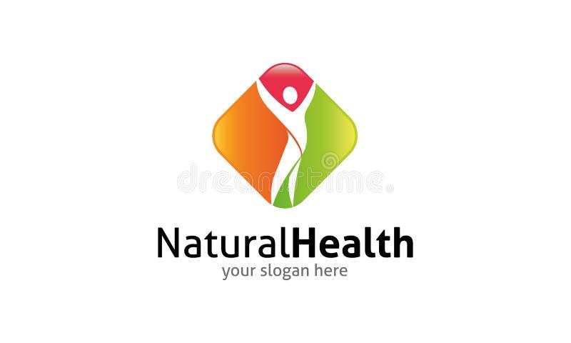 Het natuurlijke malplaatje van het Gezondheidsembleem royalty-vrije illustratie
