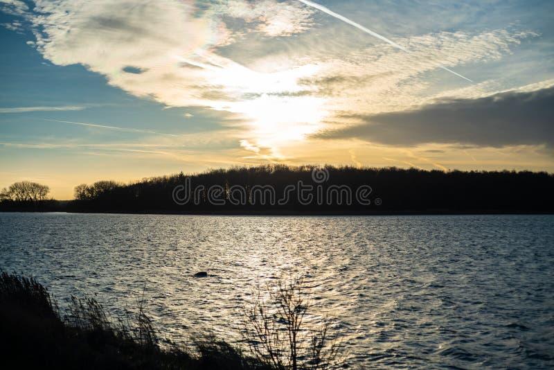 Het natuurlijke paradijs Geltinger Birk in noordelijk Duitsland royalty-vrije stock foto's