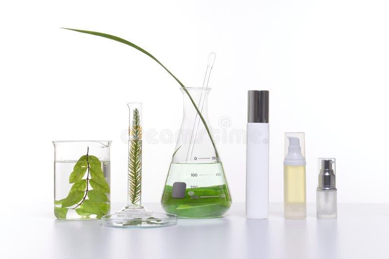 Het natuurlijke product van schoonheidsschoonheidsmiddelen met kruideningrediënten, close-up stock afbeelding