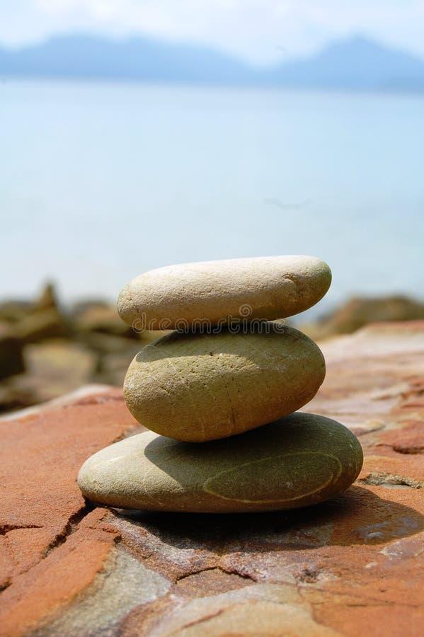 Het natuurlijke Saldo van de Steen stock afbeeldingen
