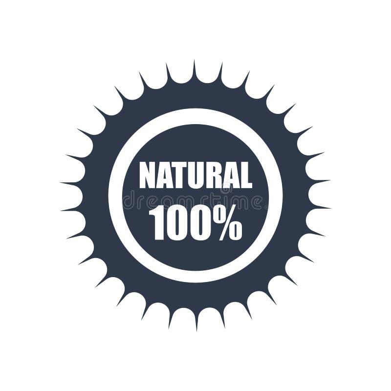 100 het natuurlijke vectordieteken en het symbool van het kentekenpictogram op whit wordt geïsoleerd vector illustratie