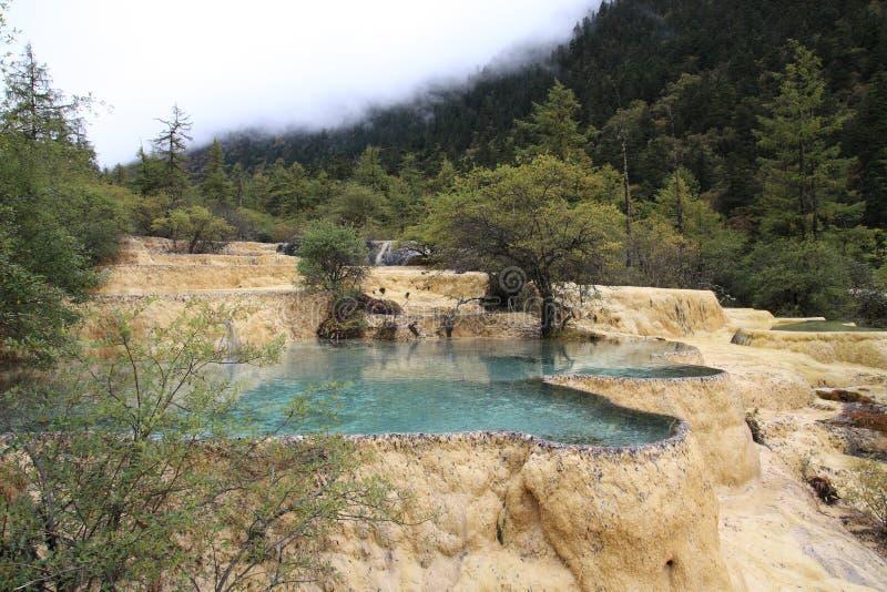 Het Natuurreservaat van Huanglong van China royalty-vrije stock foto