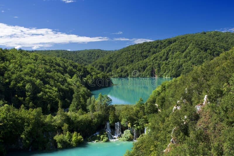 Het natuurreservaat van Plitvice stock afbeelding