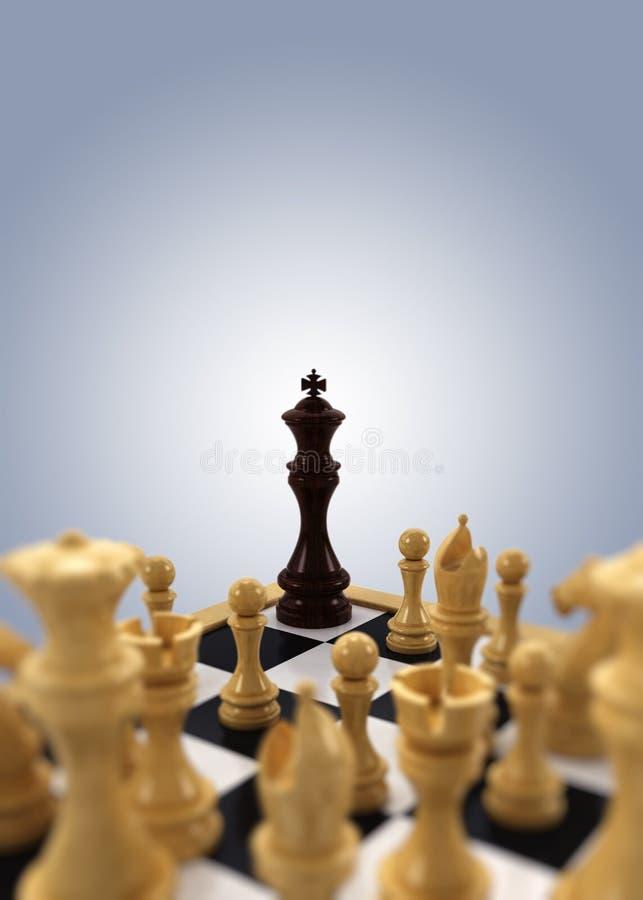In het nauw gedreven de koning van het schaak royalty-vrije stock afbeeldingen
