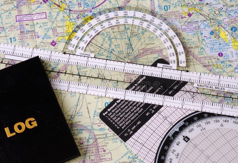 Het NavigatieToestel van Pilotâs stock afbeelding