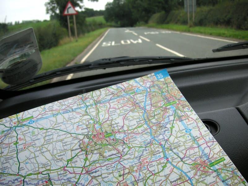 Het navigeren van de wegen stock afbeelding