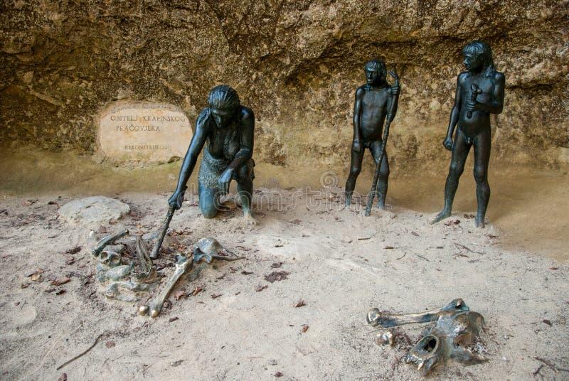 Het Neanderthaler Museum van Krapina stock foto