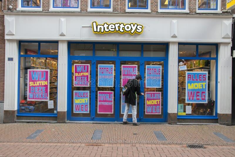Het Nederland 2019 van Intertoystoy store bankrupt at amsterdam royalty-vrije stock afbeeldingen