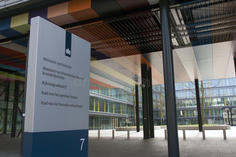 Het Nederlandse Ministerie van de Binnenland en Koninkrijksrelaties en Min stock afbeelding