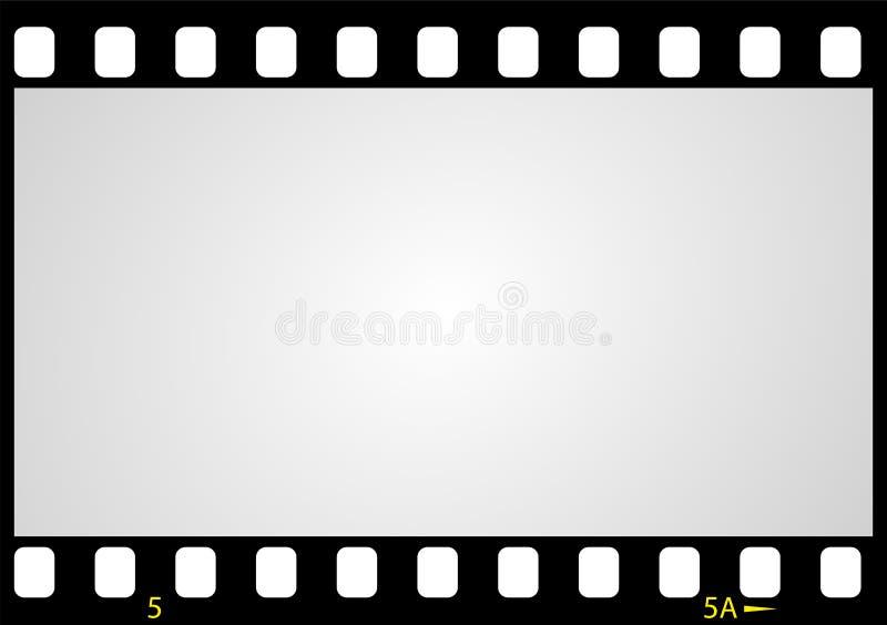 Het negatieve kader van de beeldfilm, vector illustratie