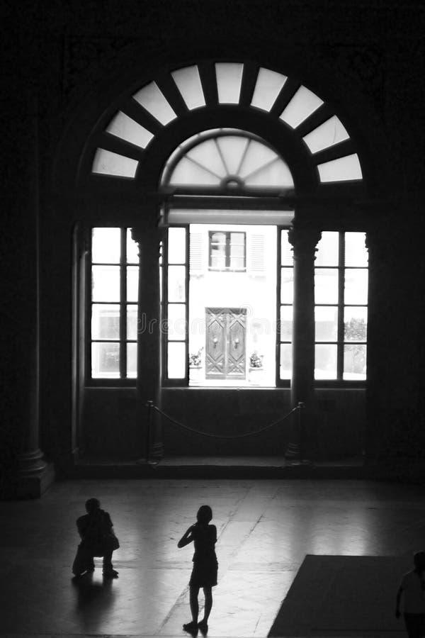 Het nemen van beelden in Palazzo Vecchio royalty-vrije stock foto