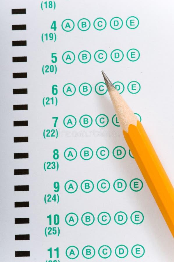 Het nemen van een examen stock afbeeldingen