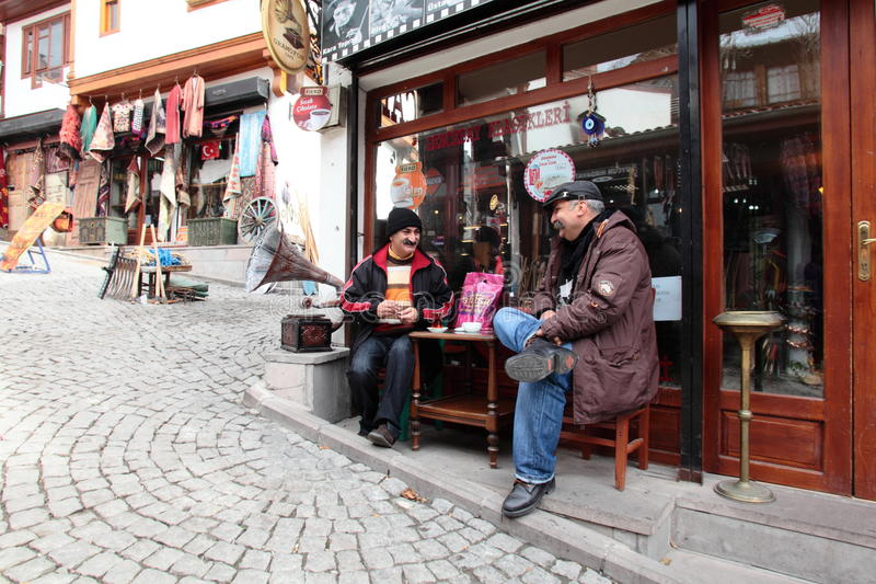 Het nemen van een koffie in Ankara royalty-vrije stock foto
