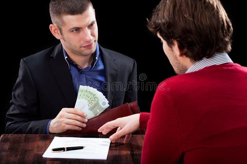 Het nemen van een lening stock afbeeldingen