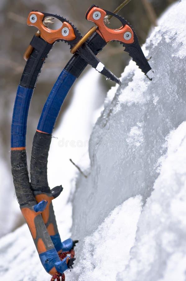 Het nemen van een onderbreking van ijs het beklimmen royalty-vrije stock foto's