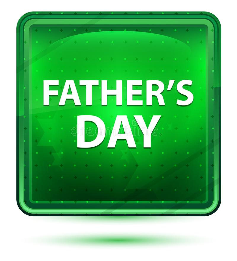 Het Neon Lichtgroene Vierkante Knoop van de vader\ 's Dag vector illustratie