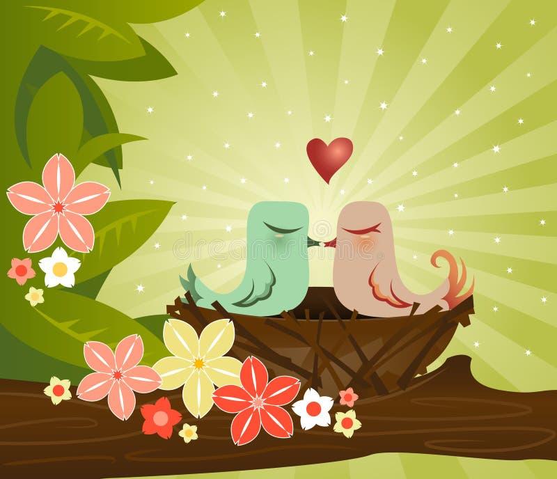 Het Nest van de liefde royalty-vrije illustratie