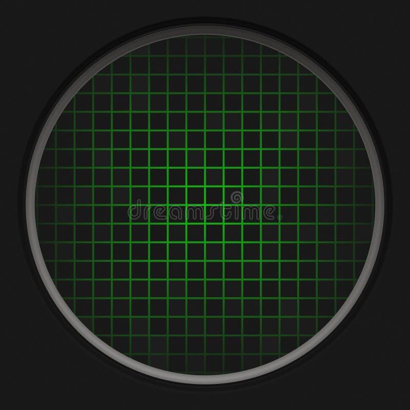 Het Net van de radar stock illustratie