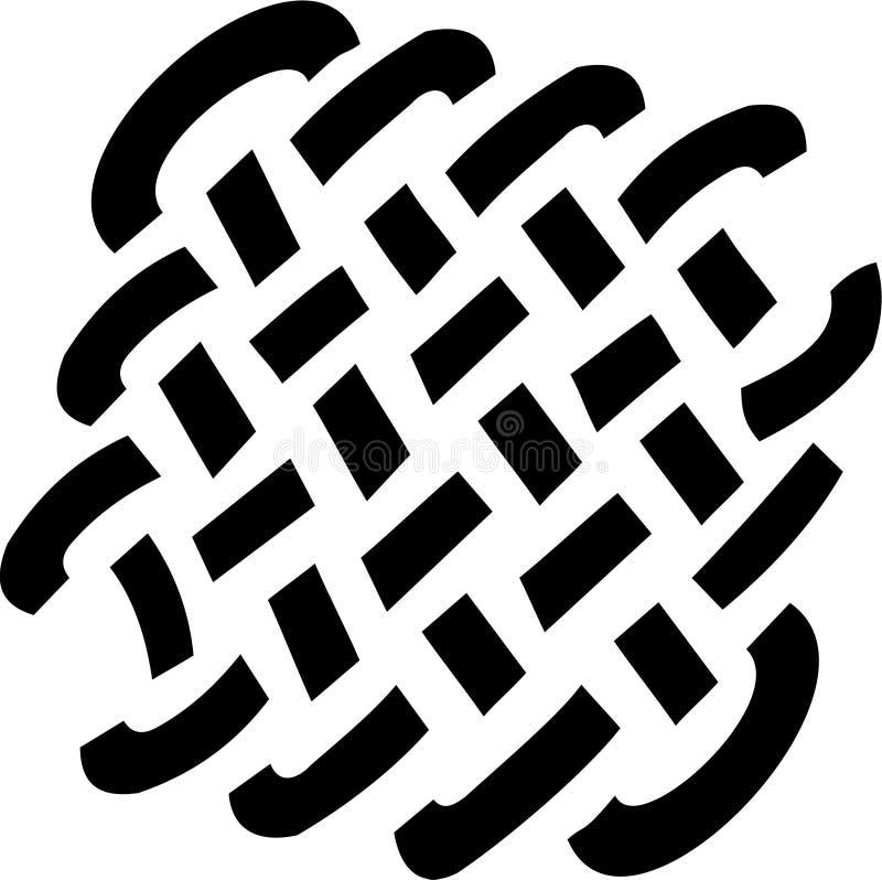 Het net van de tatoegering royalty-vrije illustratie