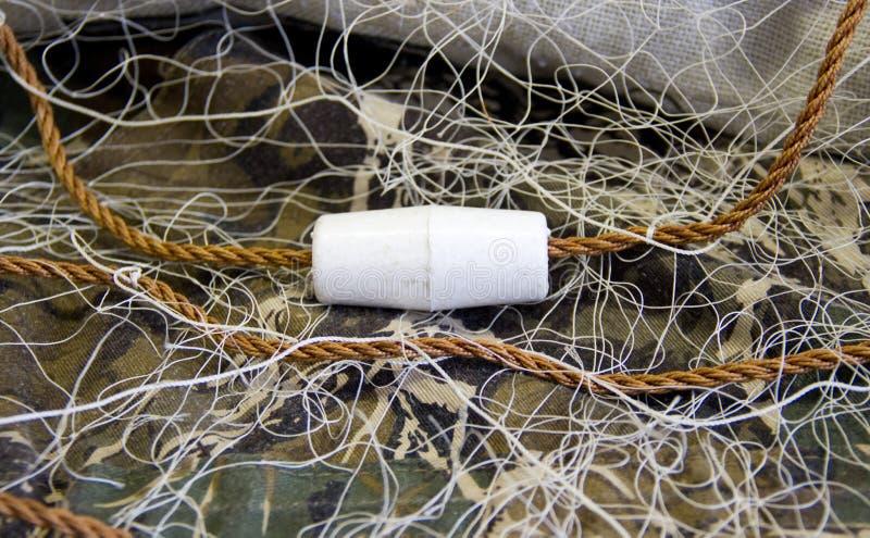 Het Net van de visserij met Vlotters royalty-vrije stock afbeelding