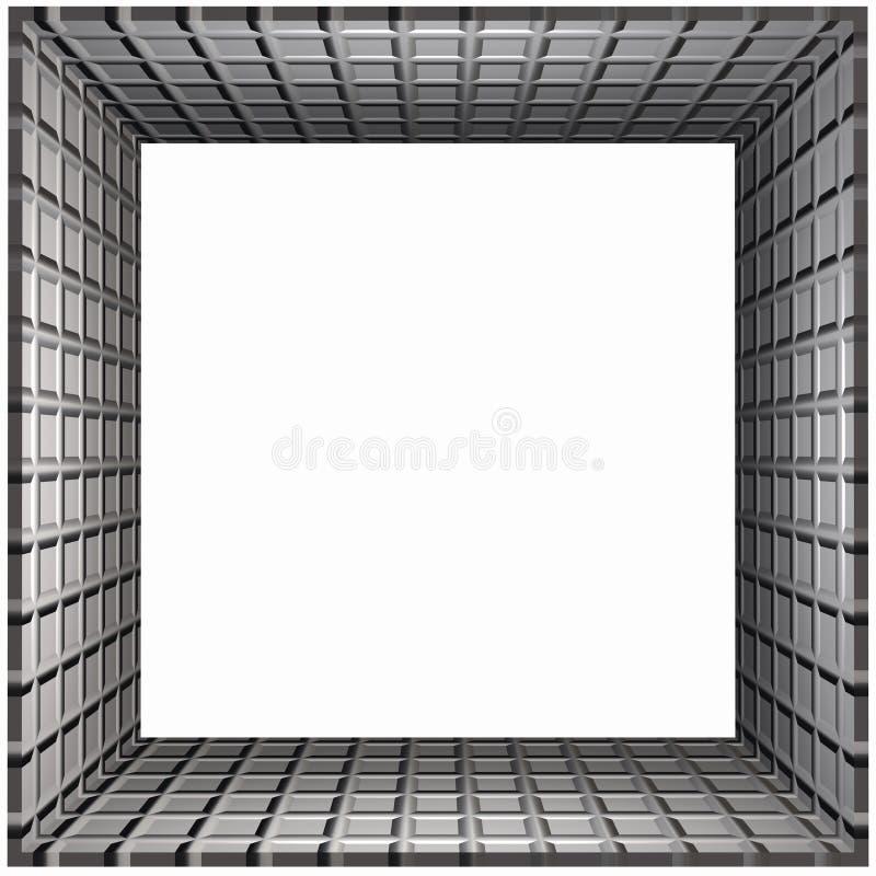 Het Net van het Frame van de doos royalty-vrije illustratie