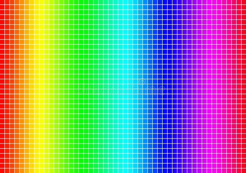 Het net van het kleurenspectrum vector illustratie